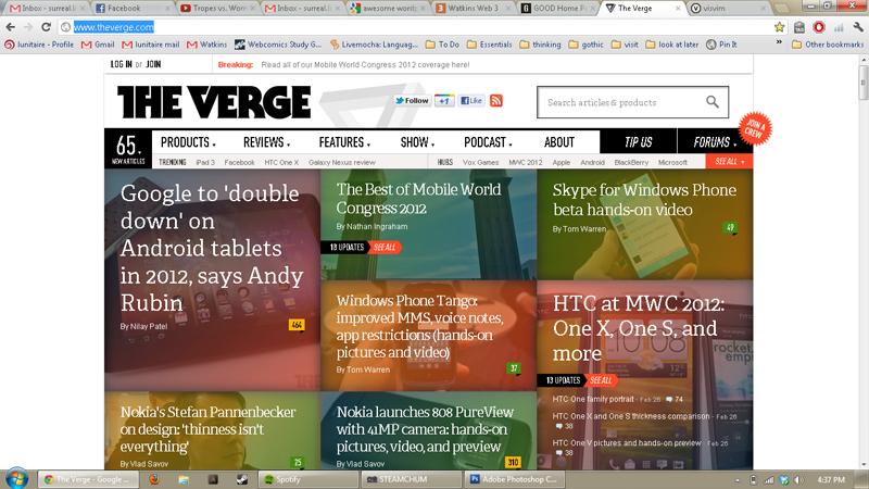 Verge.com header