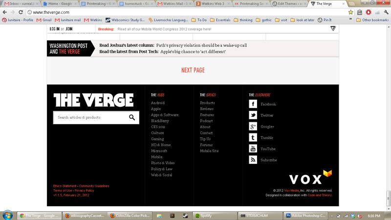 Verge.com footer